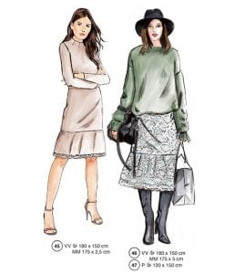 Sewing Patterns Supplement 306 Autumn 2017 45 Skirts and Tops