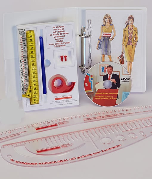 Sewing Pattern Making System with Rulers 600x510