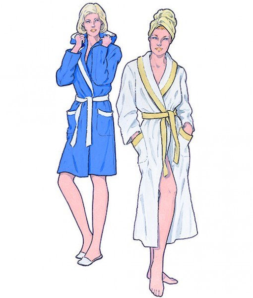 sewing patterns for bathrobe, model 39 & 40 from sewing patterns supplement 297