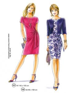 sewing patterns for a dress and a jacket summer 2016 Supplement 301