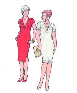 Sewing Patterns for Dresses, Model 21 & 22