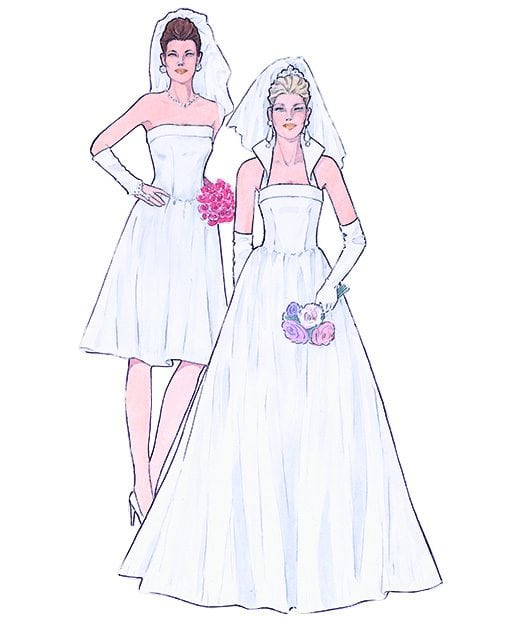 Sewing Patterns for Wedding Dresses. Model 19 & 20