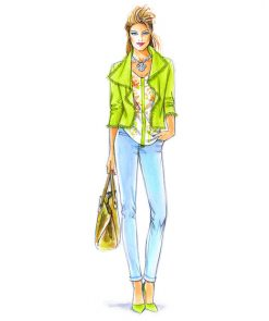 Sewing Patterns for a top and a jeans, model 23 & 24