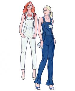 Sewing Patterns for Dungarees, Model 25 & 26