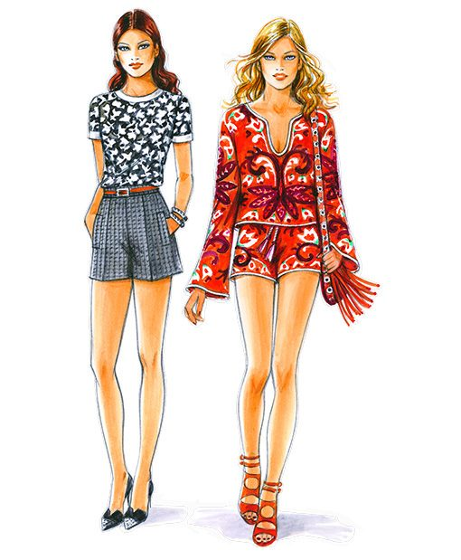 Sewing Patterns for Shorts and Shirts, Models 27-30