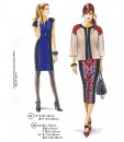 Sewing Patterns models 41 and 42 from Supplement 291 Dresses