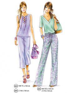 sewing patterns no. 223 und 225