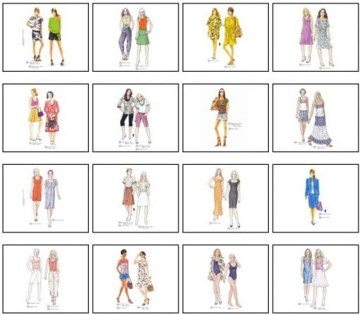 Sewing patterns for the summer
